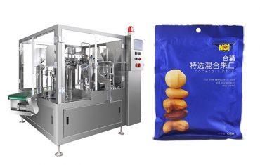 пред-направени торба храна гранули пополнување запечатување машина за пакување