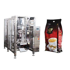 кафе quad торба форма пополнете печат пакување машина