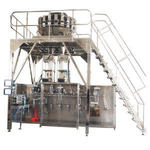 Хоризонтална претходно изработена машина за пакување со повеќеходни скали за гранули