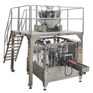 Ротари автоматски ципа торба пополнете печат машина за пакување за семе ореви