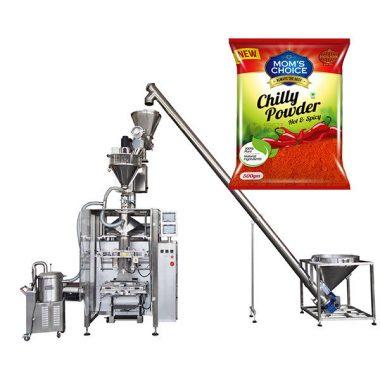 Vffs bagger пакување машина со полнење полнење за пиперки и чили храна во прав