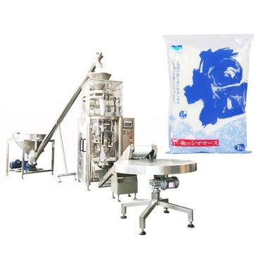 вертикална форма на сол се пополнува печат машина со волуметриски чаша